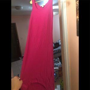 NWOT Michael kors hot pink hi low dress